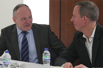 Royston Smth pictured with planning minister Nick Boles