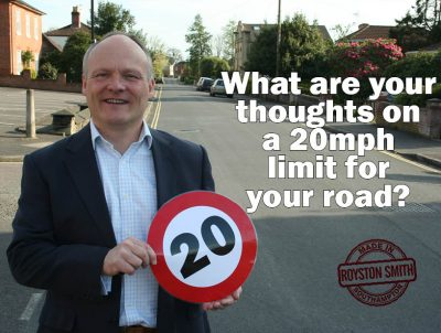 What are your thoughts on a 20mph limit for your road?