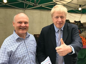 Royston Smith with Boris Johnson